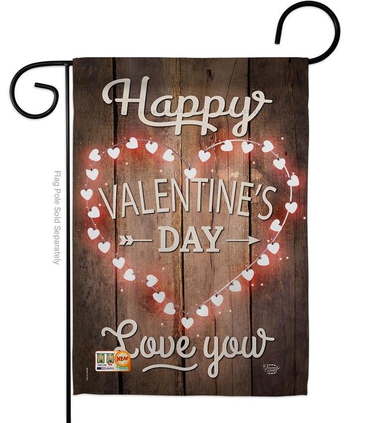 Happy Valentine's Day Decorative Garden Flag