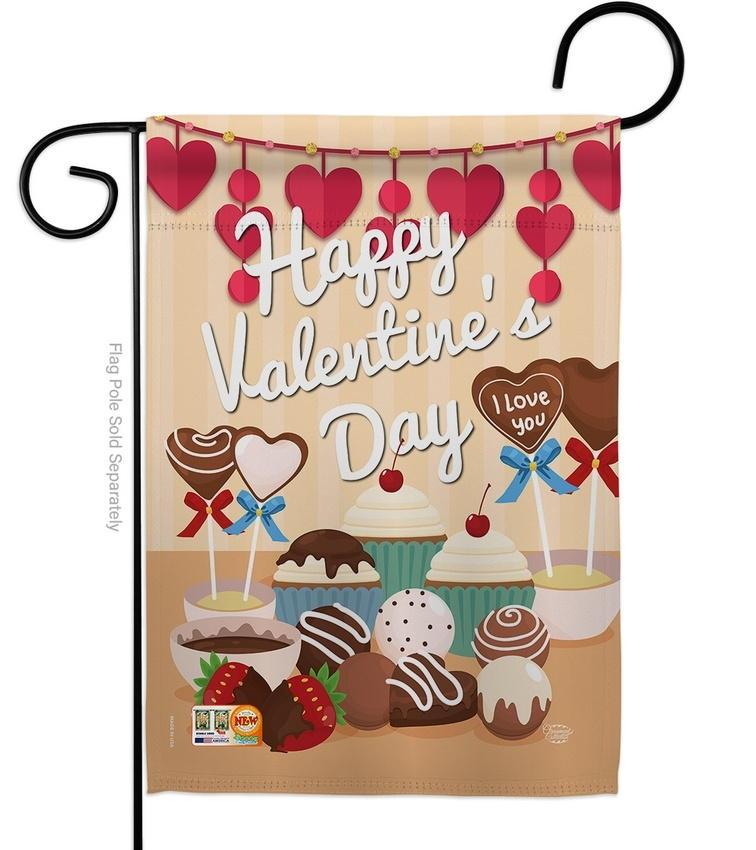 Sweet Valentines Day Garden Flag