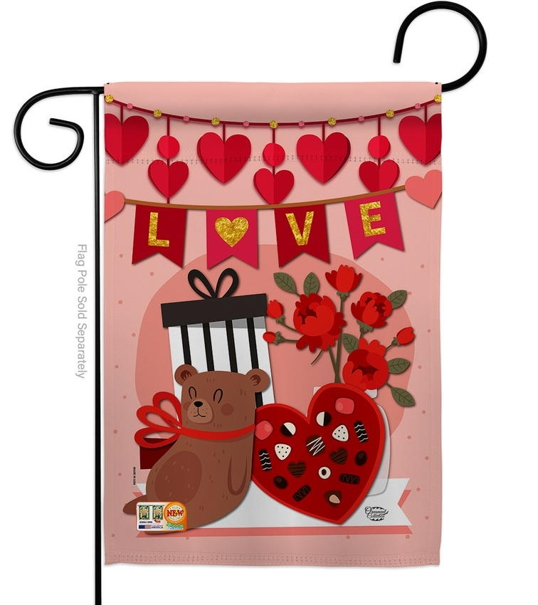 Valentine Sweet Moment Garden Flag