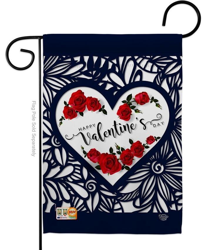 Roses Are Love Garden Flag