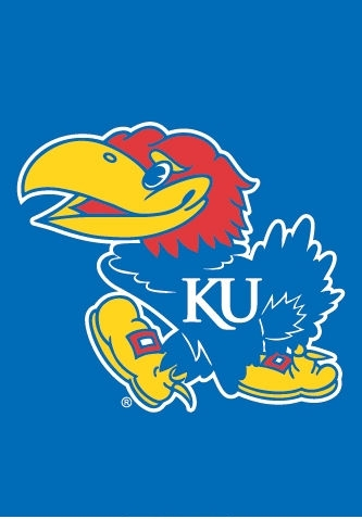 "Kansas Jayhawks Garden Window Flag 15"" x 10.5"""