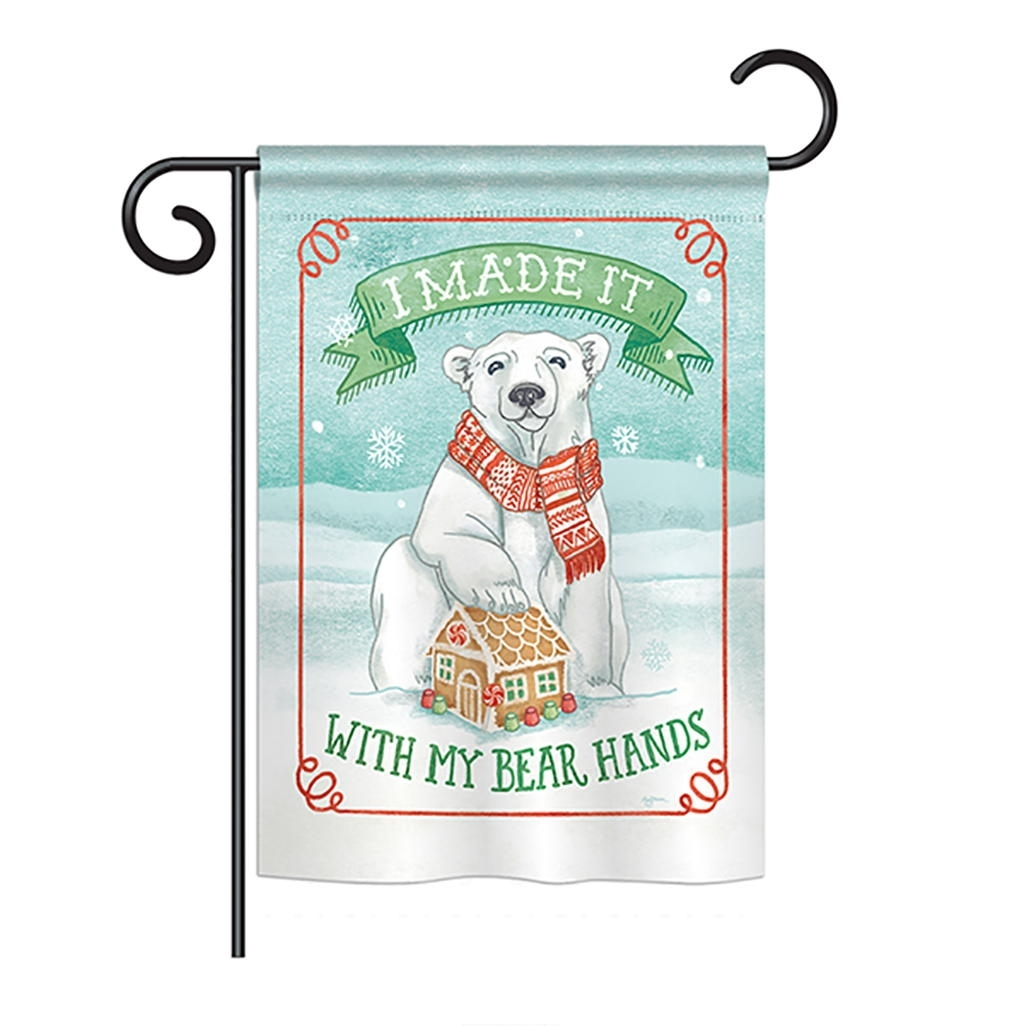 My Bear Hands Garden Flag