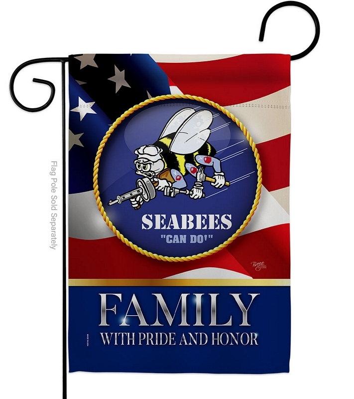US Seabees Family Honor Garden Flag