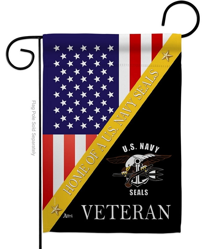 Home Of US Navy Garden Flag