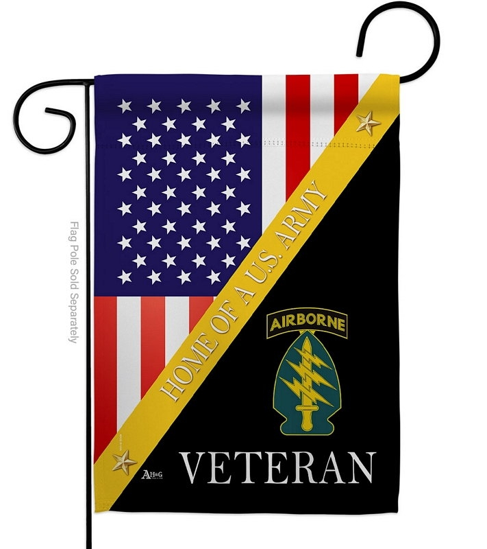 Home Of Special Forces Airborne Garden Flag