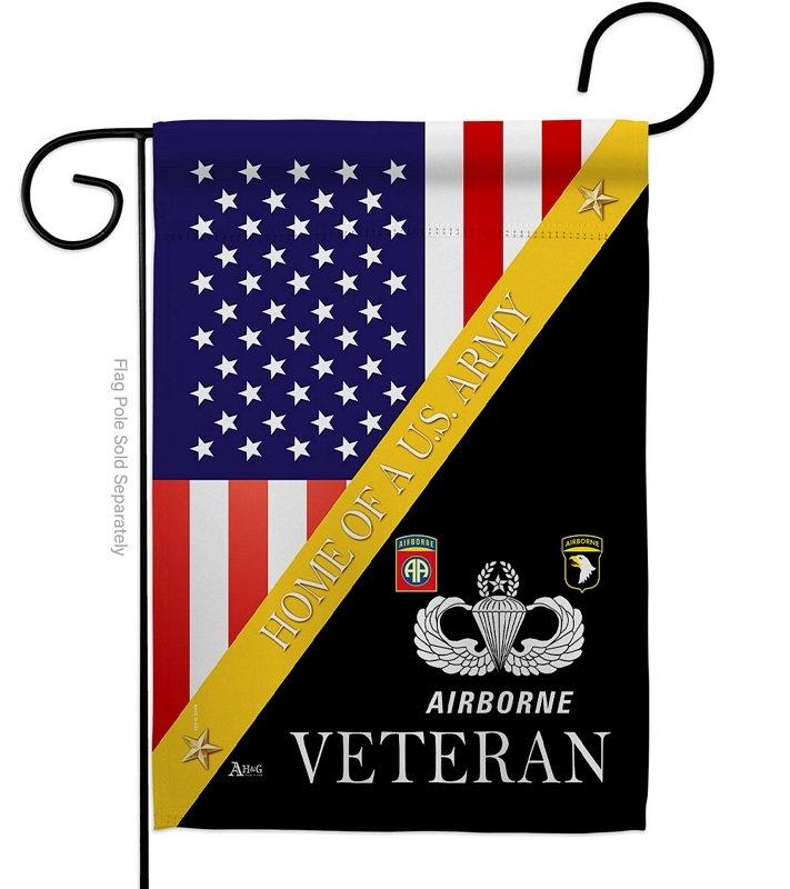 Home Of US Airborne Garden Flag