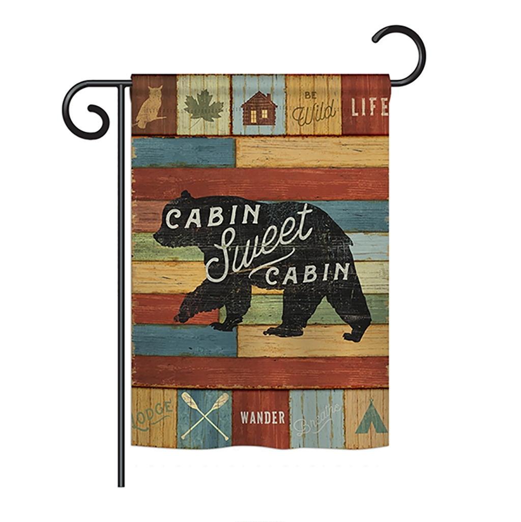 Cabin Sweet Cabin Garden Flag