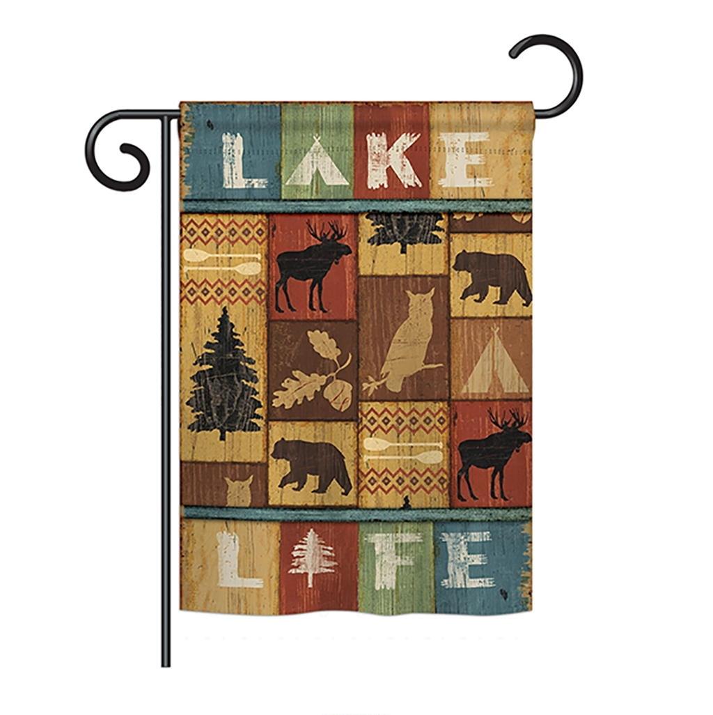 Lake Life Garden Flag