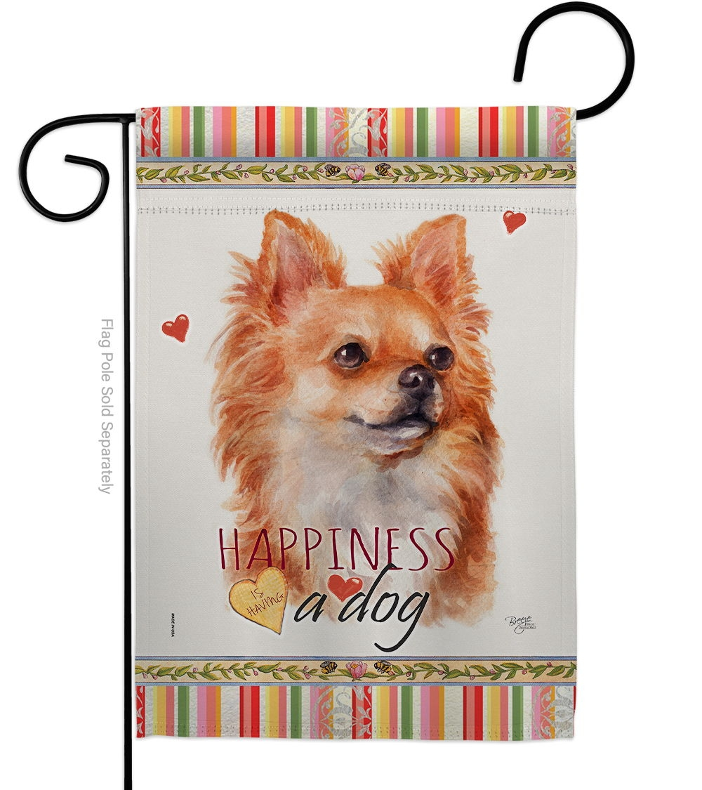 Brown Chihuahua Happiness Garden Flag