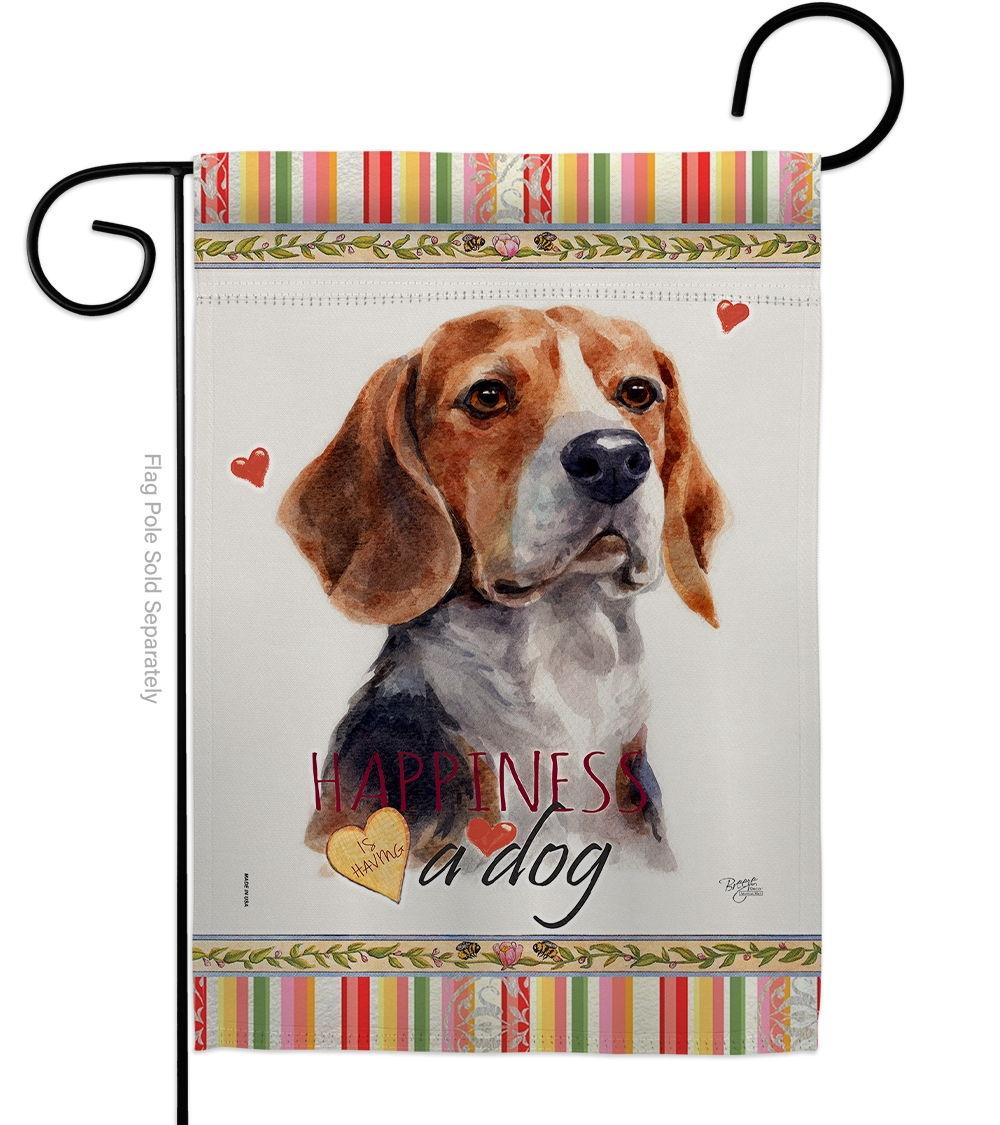 Beagle Hound Happiness Garden Flag