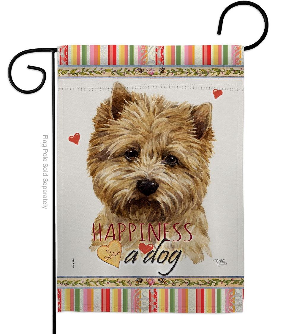 Cairn Terrier Happiness Garden Flag