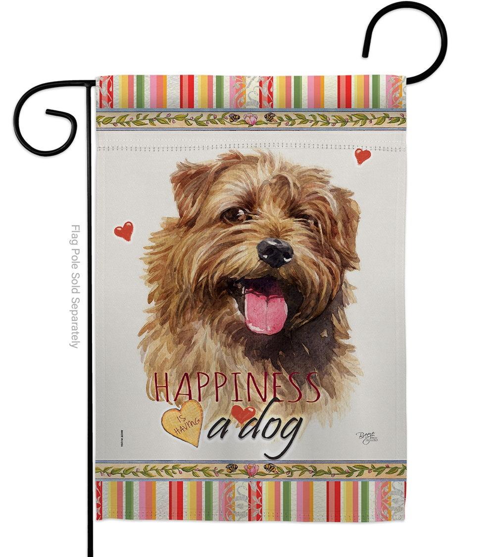 Norfolk Terrier Happiness Garden Flag