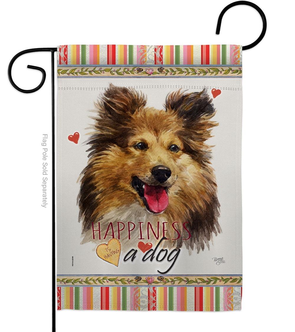 Shetland Sheepdog Happiness Garden Flag