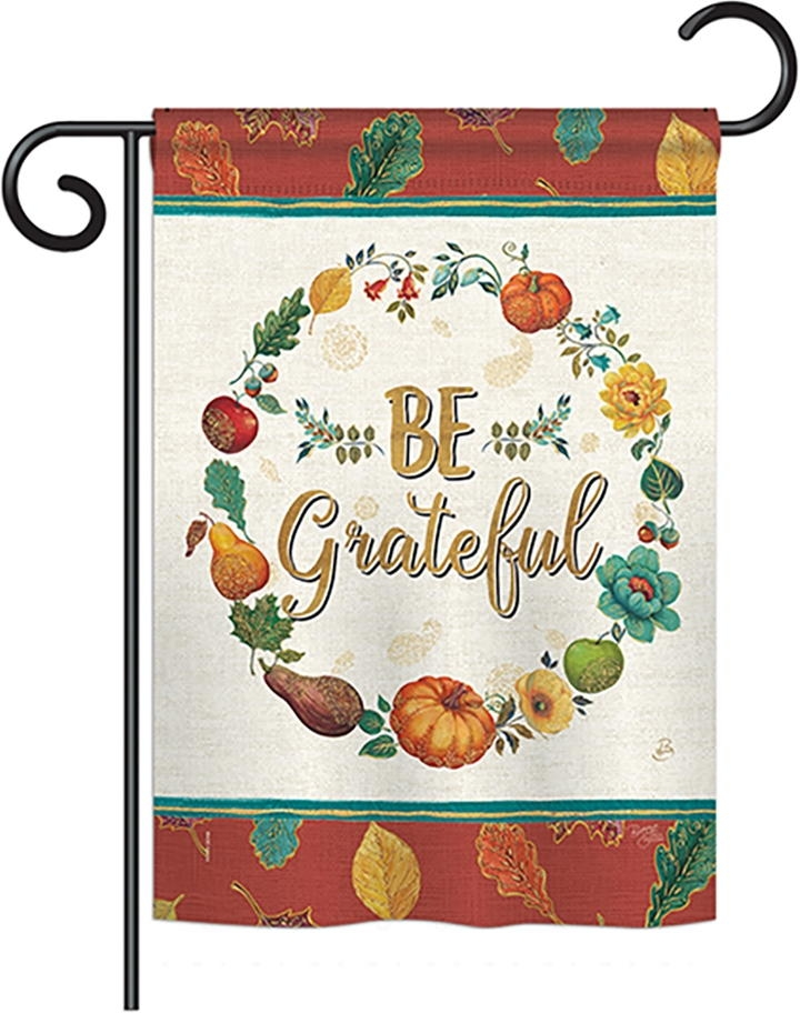 Be Grateful Garden Flag