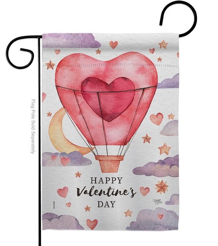 Valentine's Day Balloon Garden Flag
