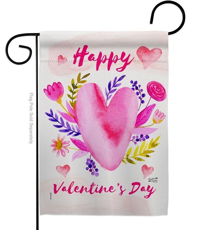 Valentines Bouquet Garden Flag
