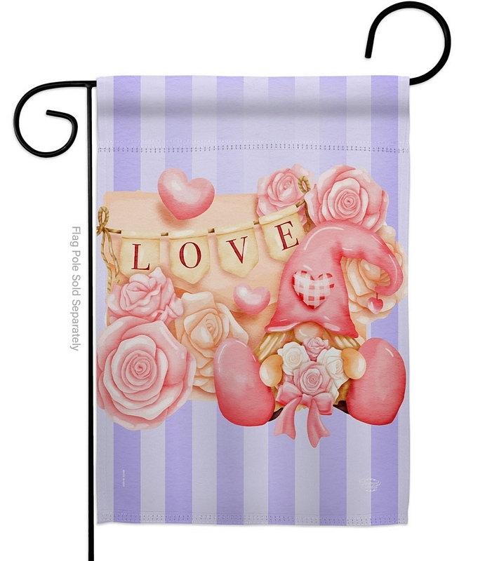 Love Gnome Garden Flag