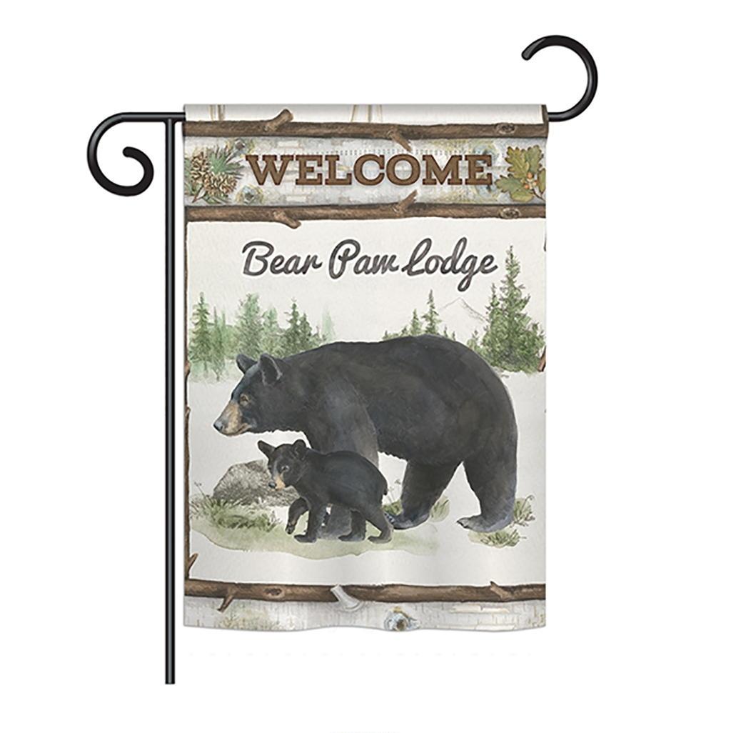 Bear Paw Lodge Garden Flag