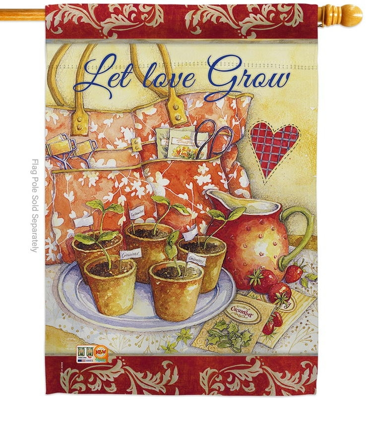 Let Love Grow House Flag
