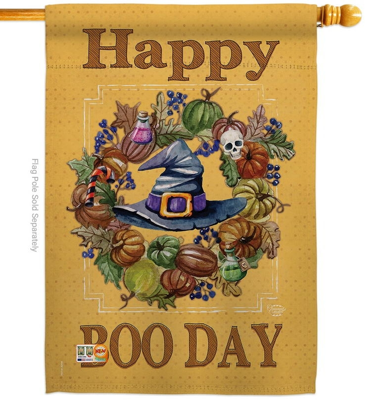 Happy Boo Day House Flag