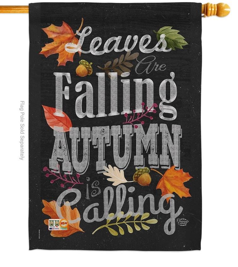 Autumn Is Calling Fall House Flag