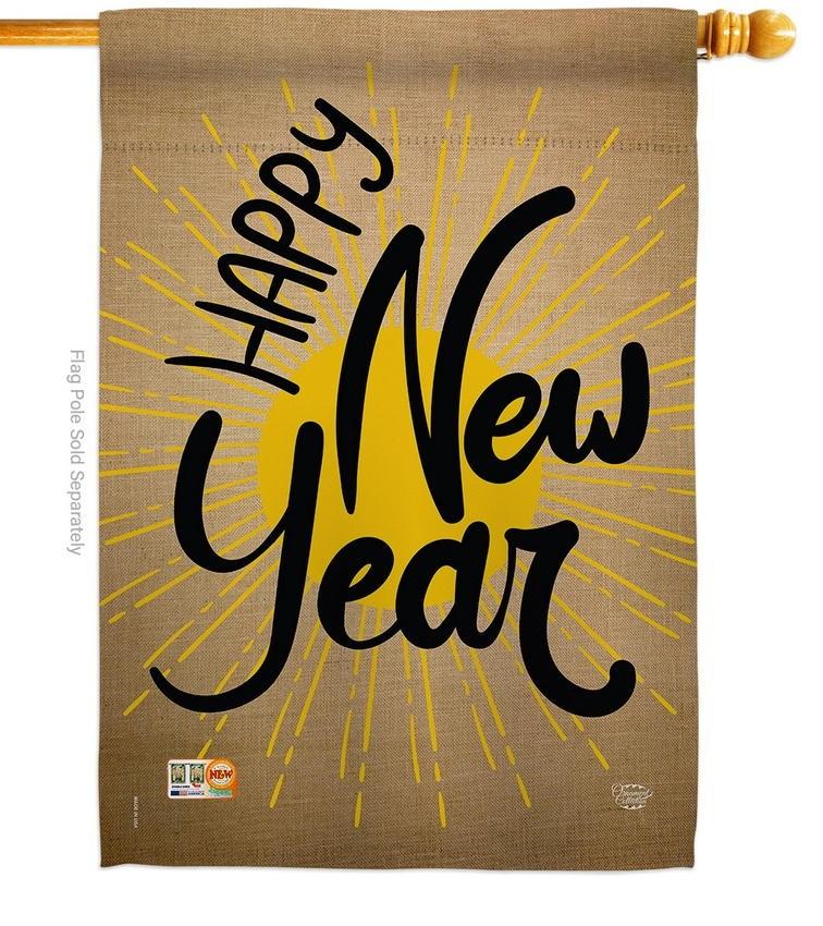 Happy New Year Decorative House Flag