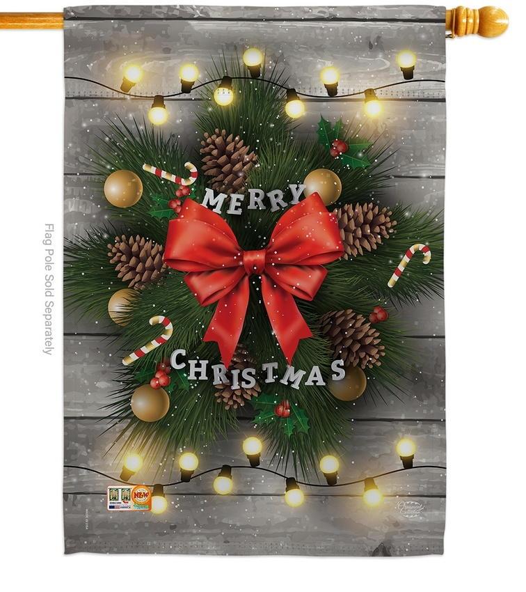 Lightful Merry Christmas House Flag