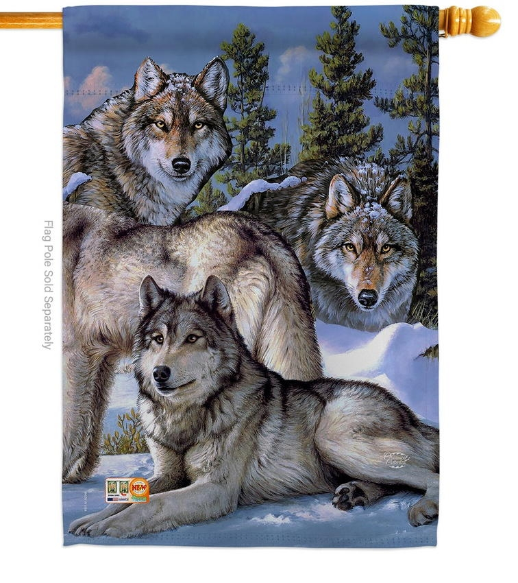 Wolf Pack House Flag