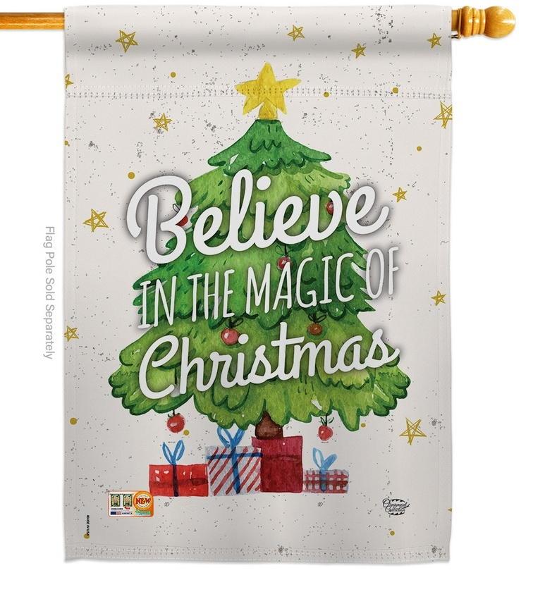 Magic Of Christmas House Flag