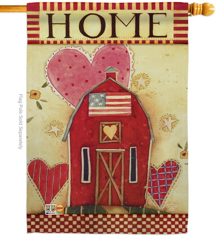 Hearts Of Home House Flag