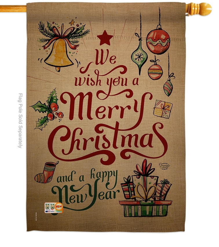 Merry Christmas & Happy New Year House Flag
