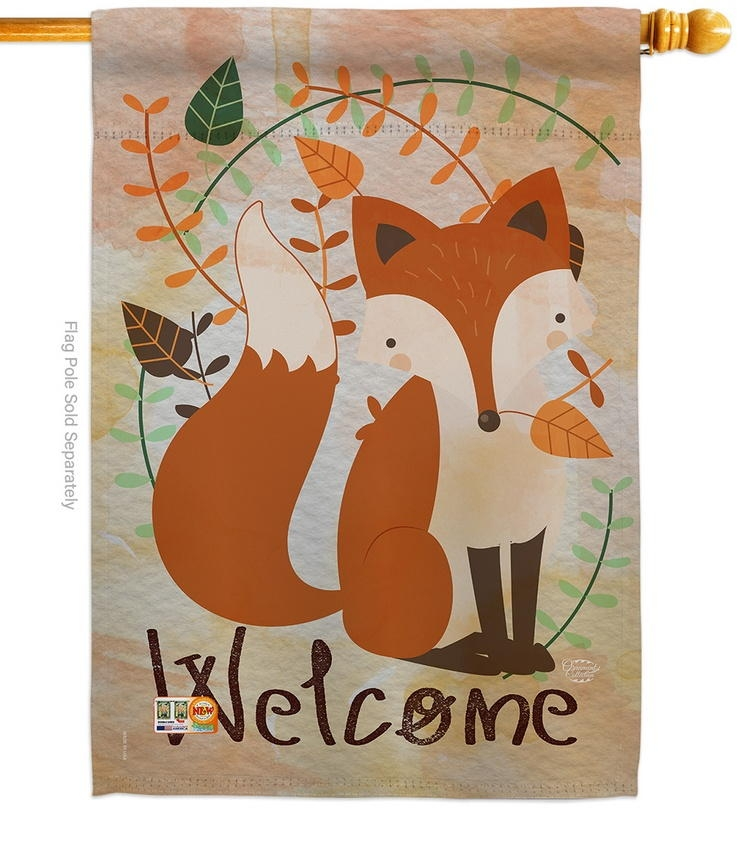 Welcome Fox House Flag