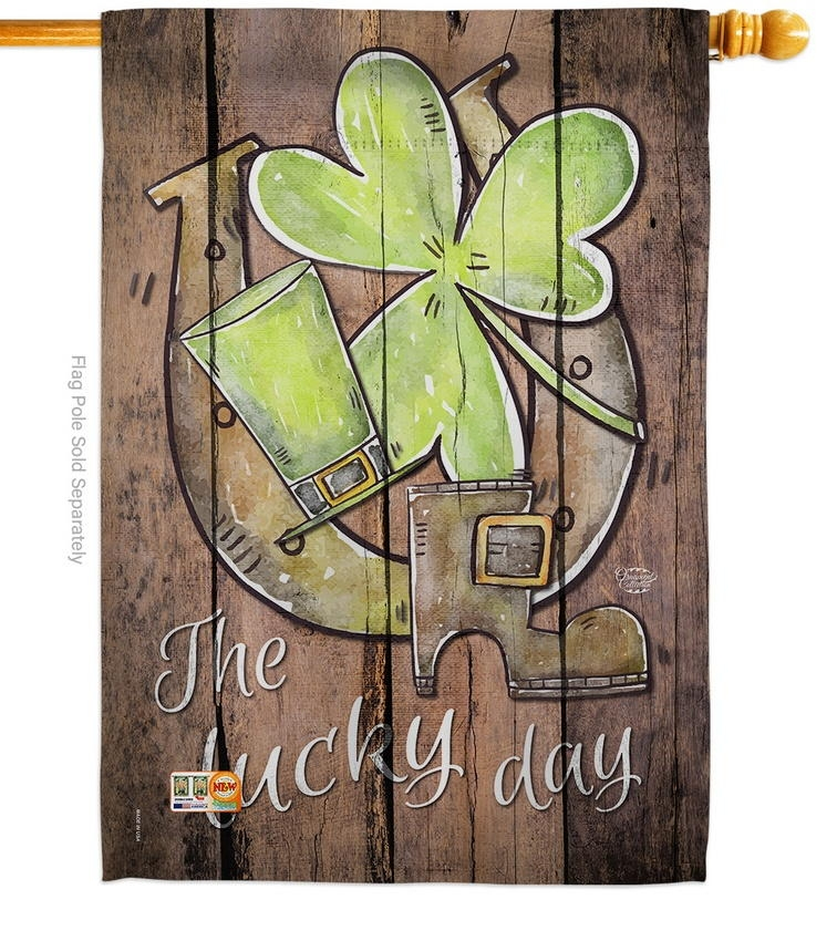 St. Pat's The Lucky Day House Flag