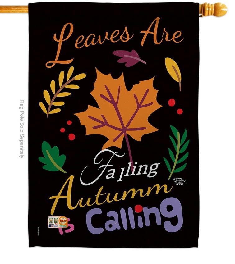 Leaves Are Falling House Flag