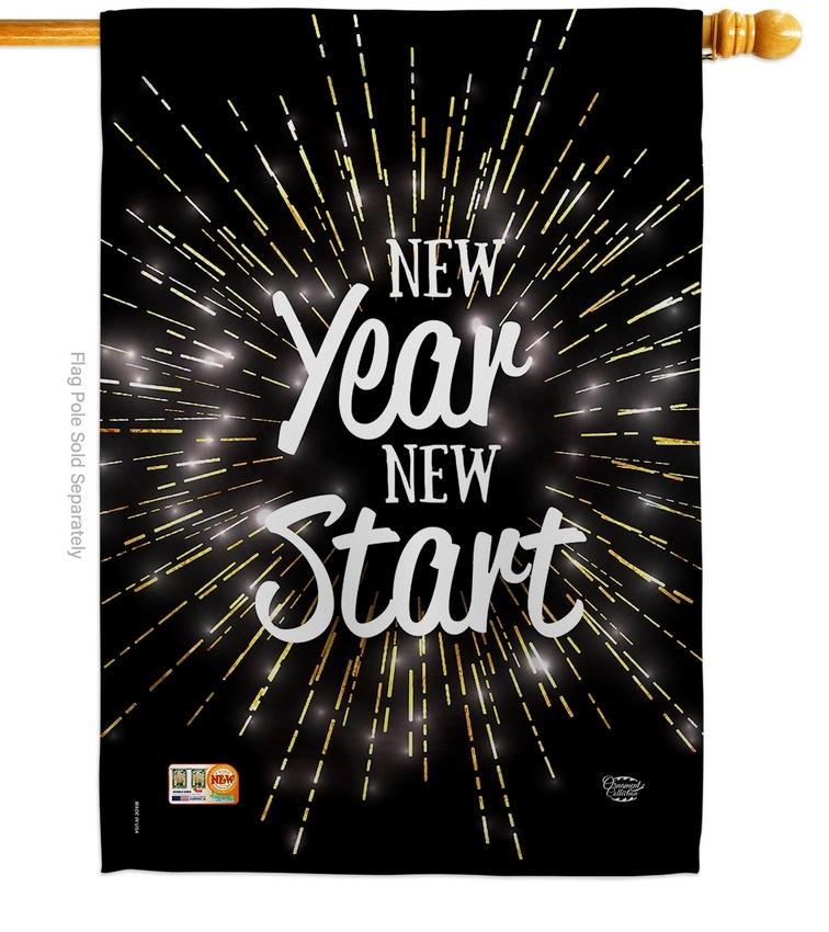 New Year Start House Flag