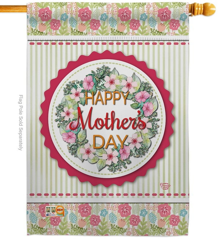 Sweet Mother's Day House Flag
