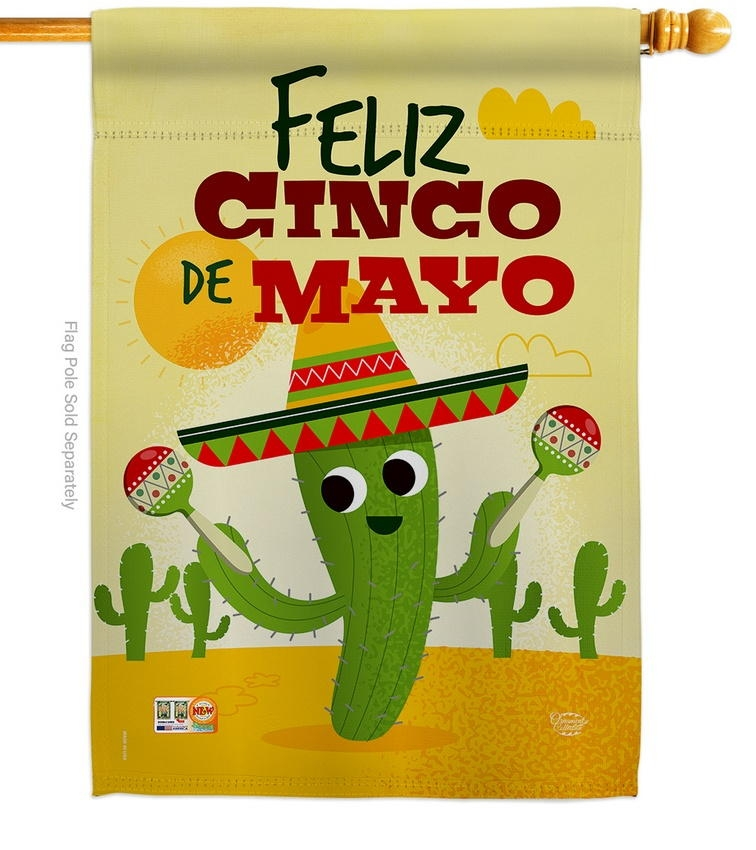 Feliz Cinco de Mayo House Flag