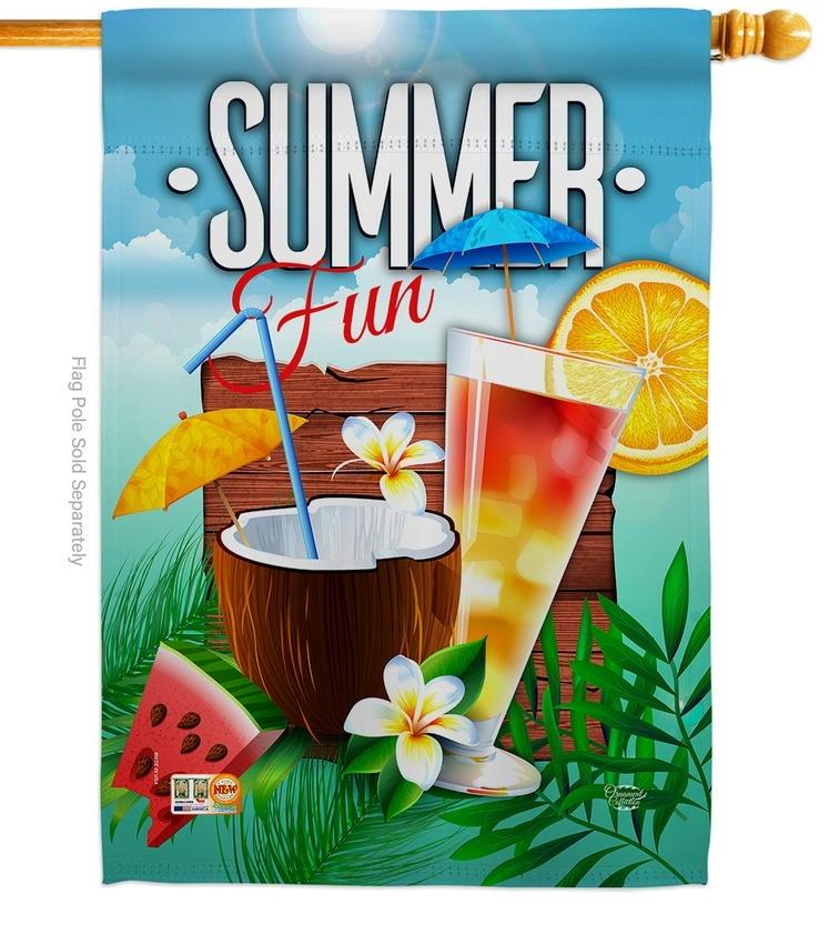 Cool Summer Drinks House Flag