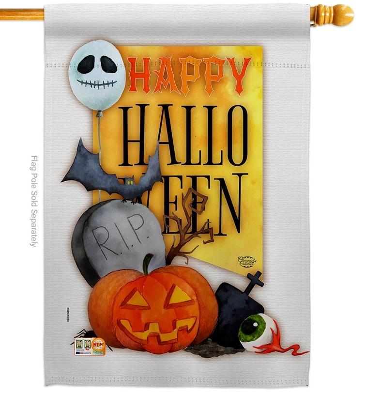 Happy Halloween Spirit House Flag