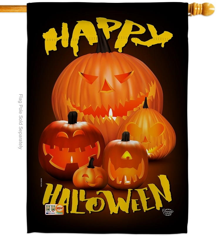 Halloween Pumpkin Patch House Flag