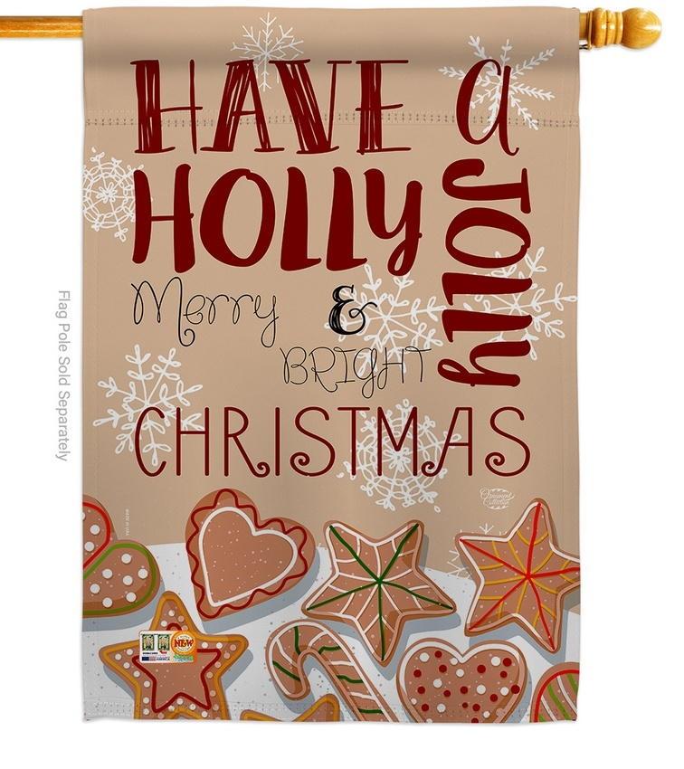 Have A Holly Jolly Christmas House Flag