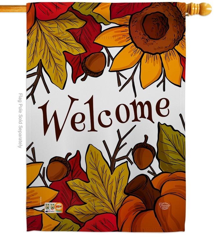 Autumn Welcome House Flag
