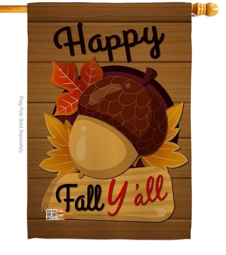 Happy Fall Y'll House Flag