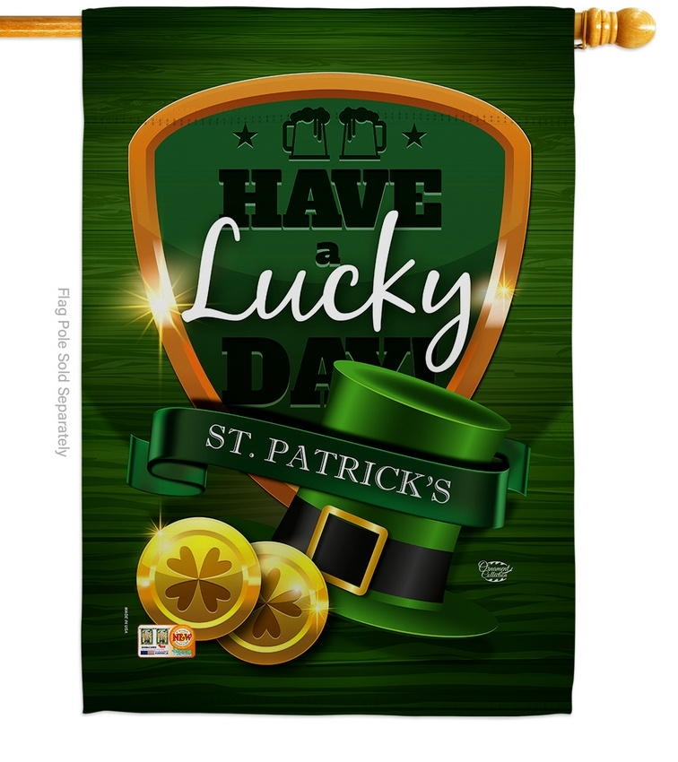 Have A Lucky Day Decorative House Flag
