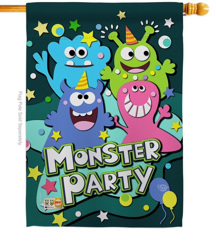 Monster Party House Flag