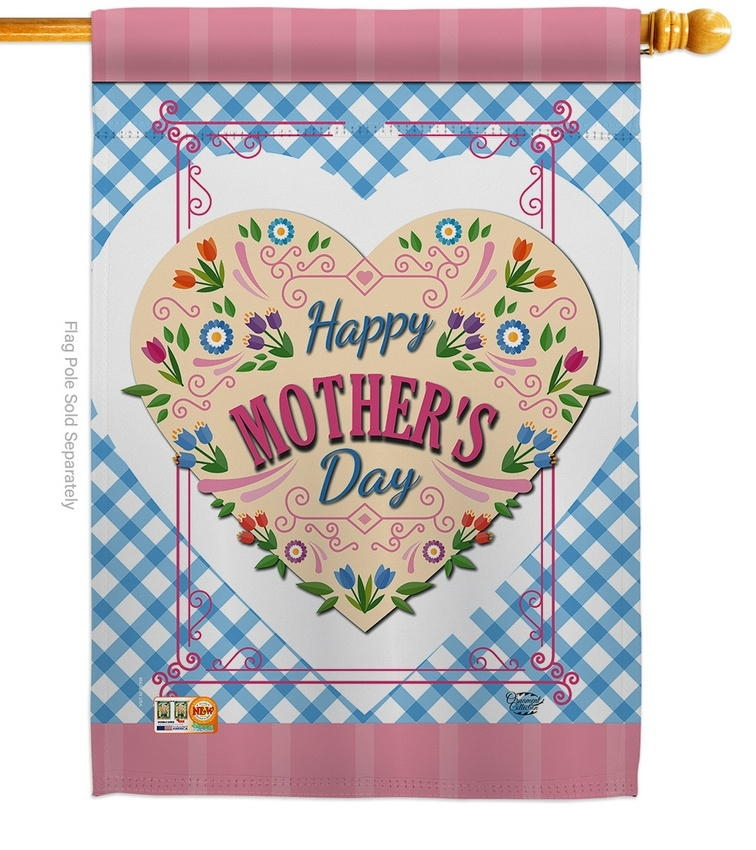 Floral Mother Day House Flag