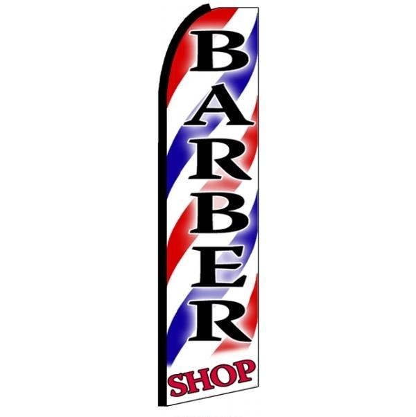 Barber Shop (Black Sleeve) Feather Flag Banner 2.5' x 11'