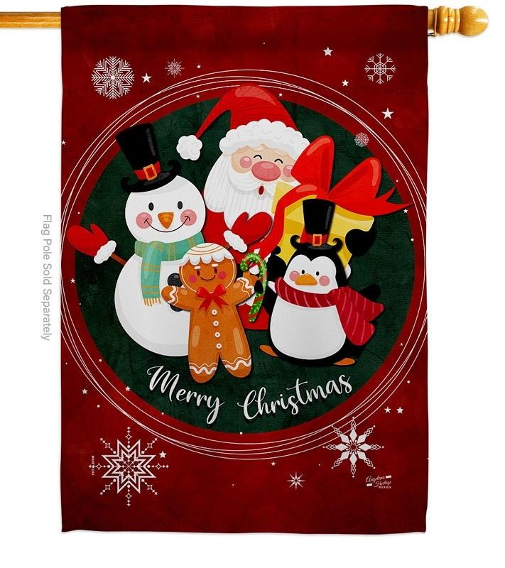 Holidays Friends House Flag