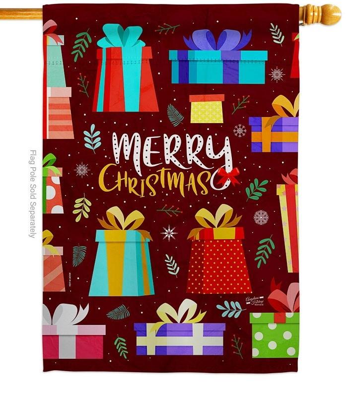 Merry Giftmas House Flag