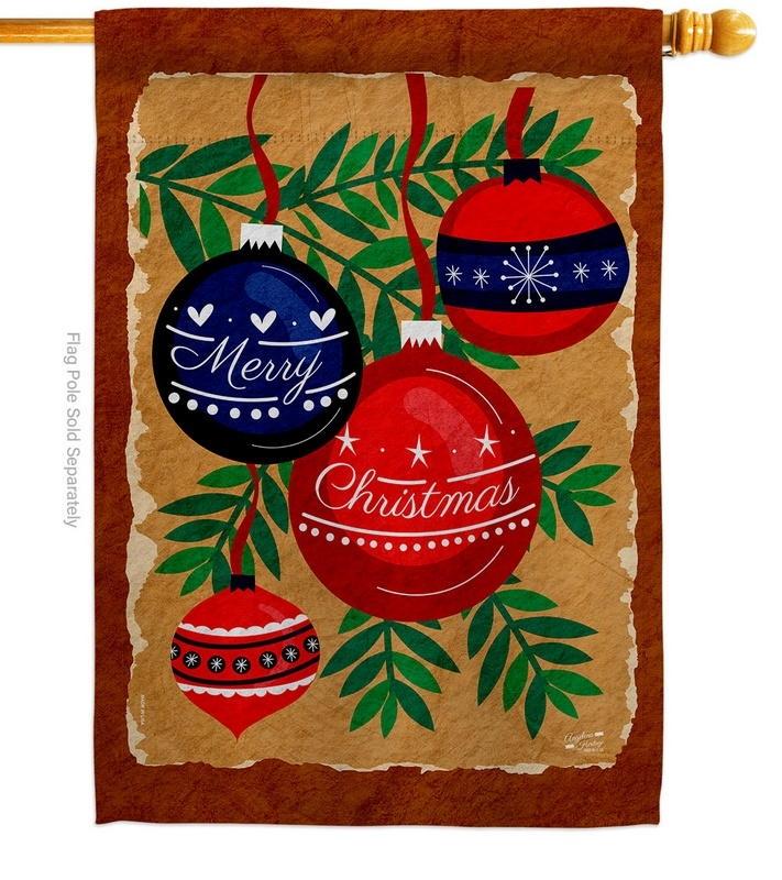 Christmas Ornaments House Flag